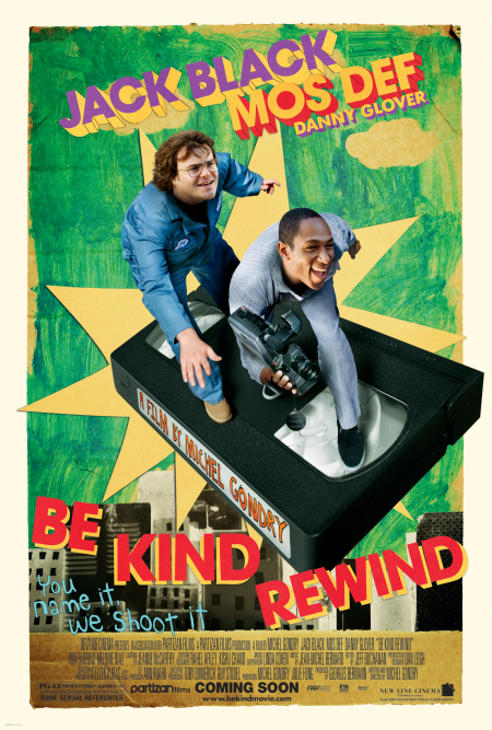 5 feel-good movies for date night: Be Kind Rewind 2008 movie poster