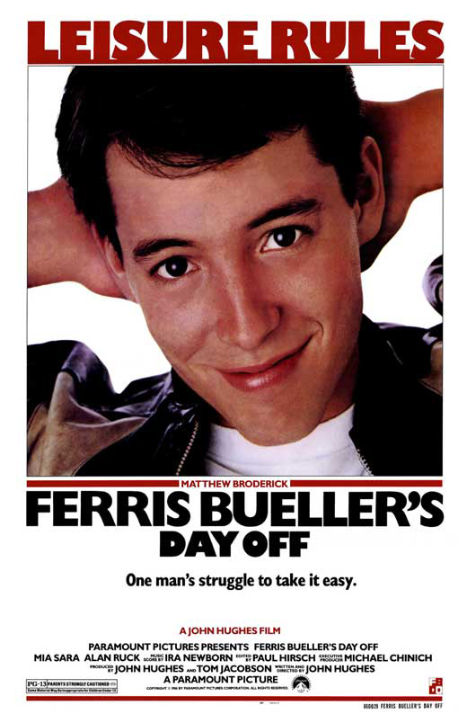 Ferris Bueller's Day Off 1986 movie poster